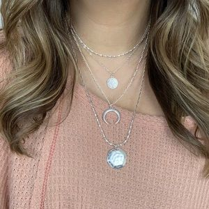 Jewelry - New Meaning Layered Necklace - Silver